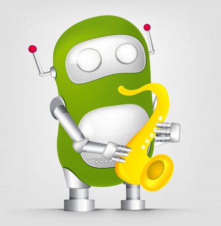 Cute Robot Stock Vector - 16065758