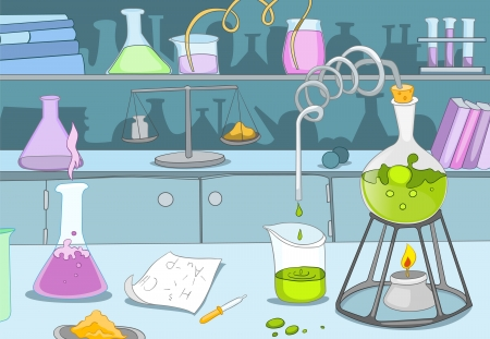 Chemisch Laboratorium Stock Illustratie