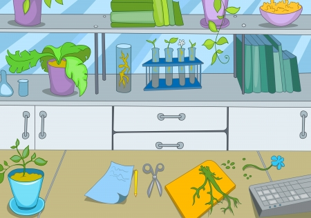 chemical laboratory: Chemical Laboratory Illustration