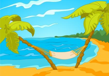 Beach Cartoon Stock Vector - 16419033