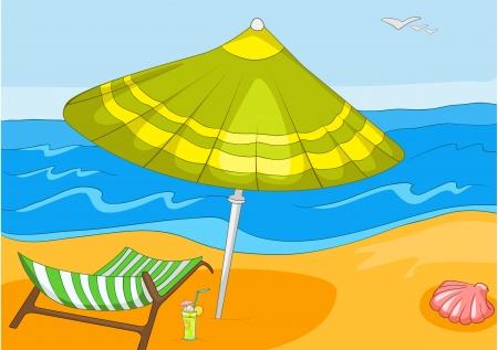 Playa de dibujos animados Foto de archivo - 16419023