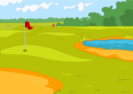 Golf Field Stock Vector - 16419007