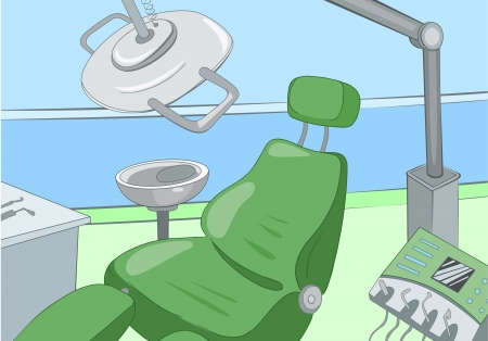clean office: Dental Office Illustration