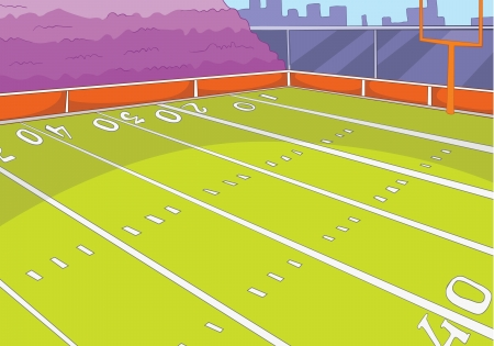 grass field: American Football Stadium