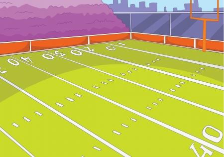 sideline: Estadio de f�tbol americano Vectores