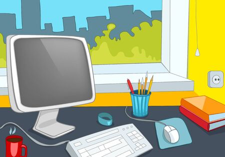 Office Place Vector