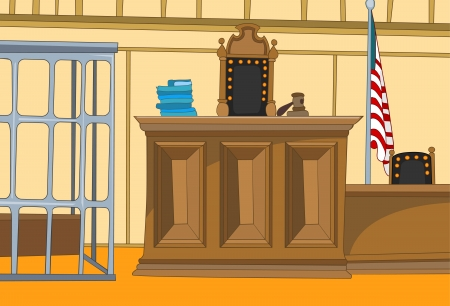 Court Cartoon Standard-Bild - 16418970