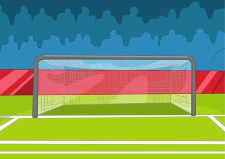 Soccer Field Stock Vector - 16418958
