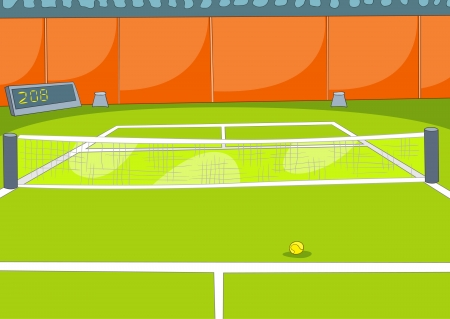 center court: Tennis Court Illustration