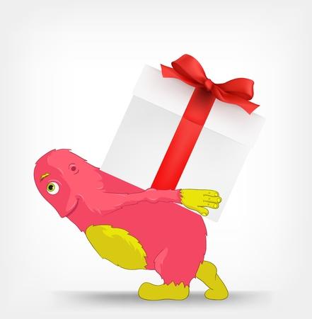 Funny Monster  Gift  Vector