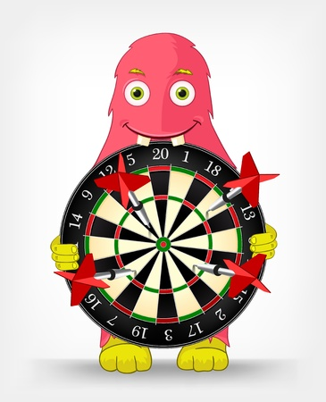 Funny Monster  Darts Stock Vector - 16605126