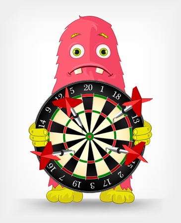 Funny Monster  Darts  Stock Vector - 16605139