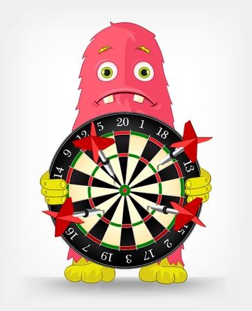 Funny Monster  Darts Stock Vector - 16605139