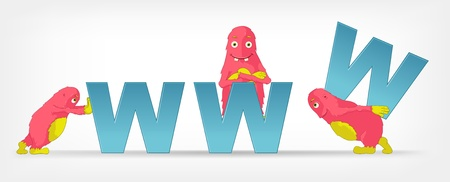 web development: Funny Monster  Communication