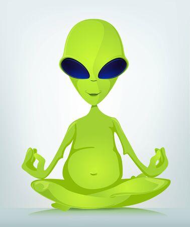Funny Alien Stock Vector - 16693361