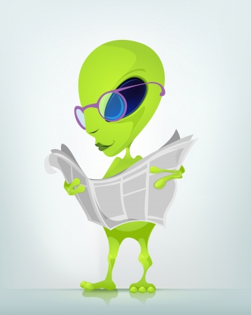 Funny Alien Stock Vector - 16693347