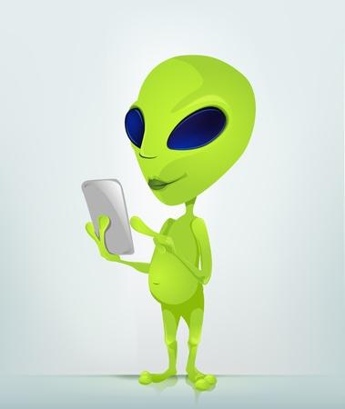 invade: Alien Illustration