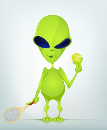 Cartoon Character ALIEN Vector