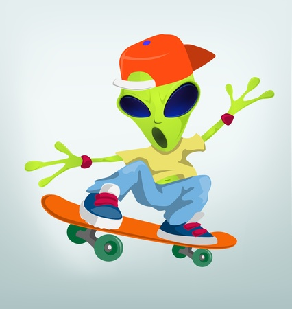 Cartoon Character ALIEN Stock Vector - 16918866