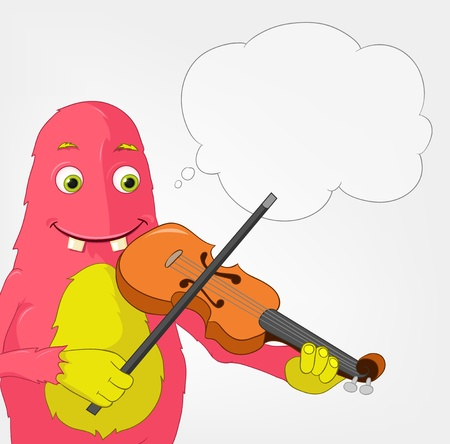 Funny Monster  Violinist Stock Vector - 16918928