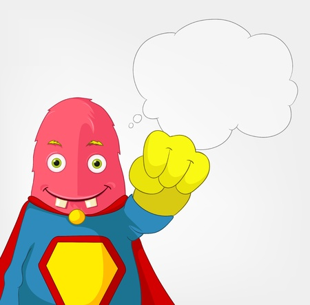 Funny Monster  Super hero