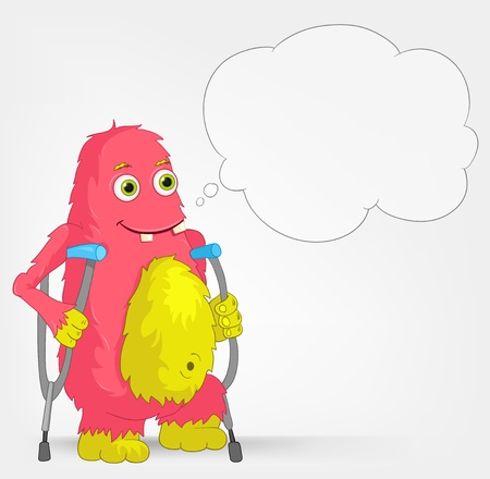 Funny Monster  Disabled  Vector