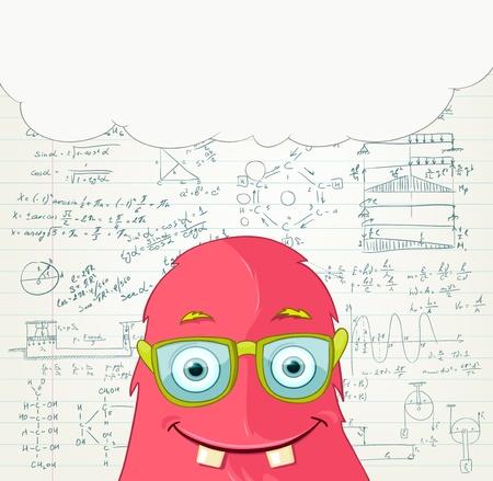 Monster Professor Stock Vector - 16918951