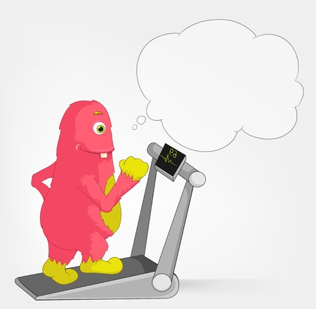 Funny Monster  Gym Stock Vector - 16918892
