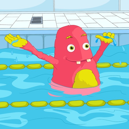 splash pool: Funny Monster