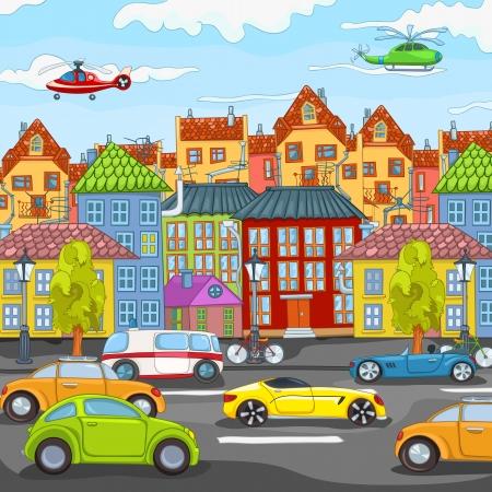 cartoon trees: City Cartoon