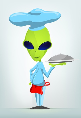 Funny Alien Stock Vector - 17286589