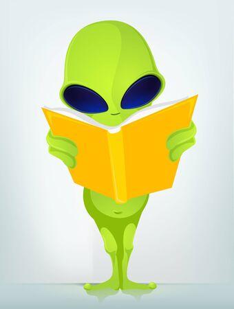 Funny Alien Stock Vector - 17286596
