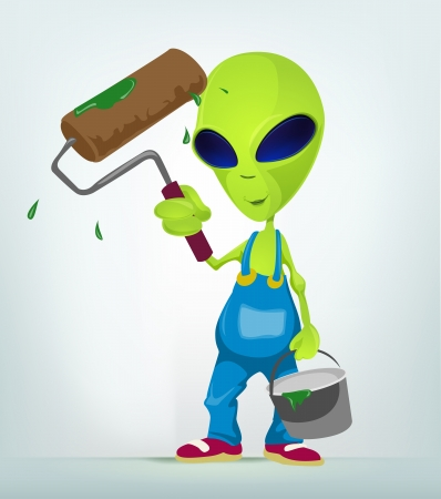 Funny Alien Stock Vector - 17286576