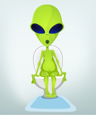 Funny Alien Stock Vector - 17286592