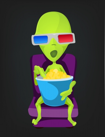 Funny Alien Stock Vector - 17286577