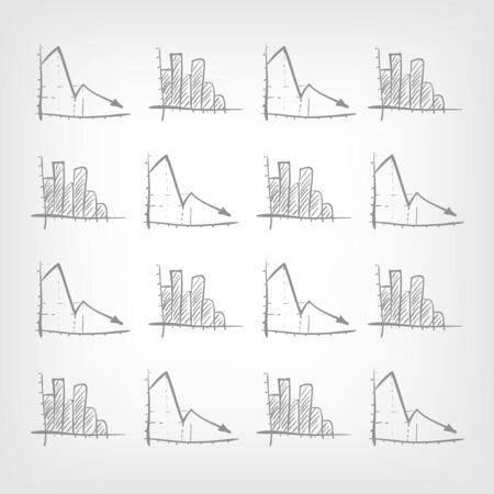 Graph Down Stock Vector - 17442037