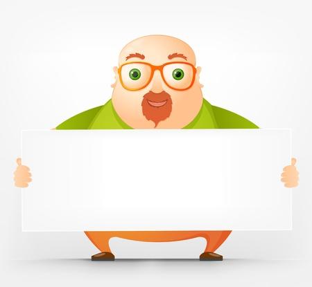Cheerful Chubby Man Stock Vector - 17546350