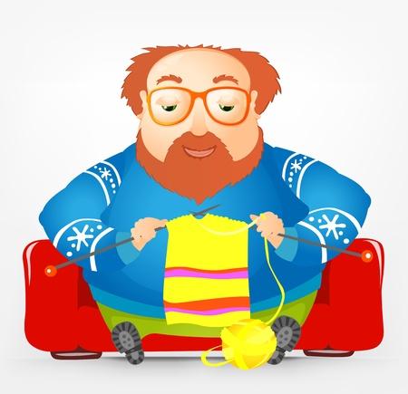 Cheerful Chubby Man Stock Vector - 17546351