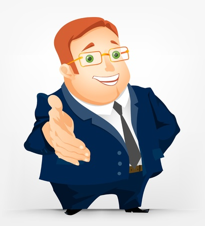 Cheerful Chubby Man Stock Vector - 17546355