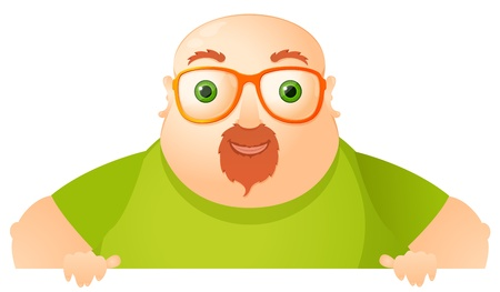 Cheerful Chubby Man Stock Vector - 17546347