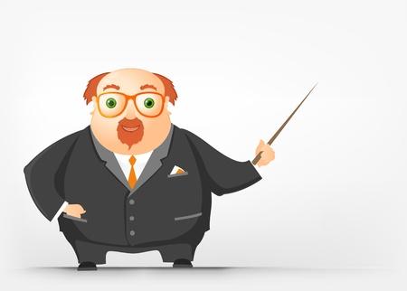 Cheerful Chubby Man Stock Vector - 17546356