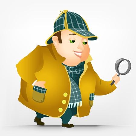 Cheerful Chubby Man Stock Vector - 17546359