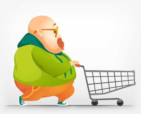 Cheerful Chubby Man Stock Vector - 17546365