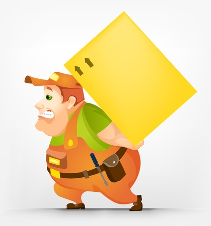 portly: Cheerful Chubby Man