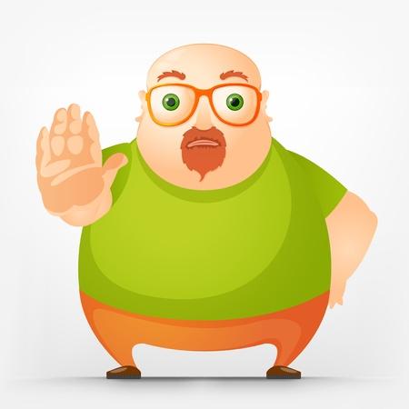Vrolijke Chubby Man Stock Illustratie