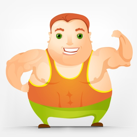 Cheerful Chubby Man Stock Vector - 17546390