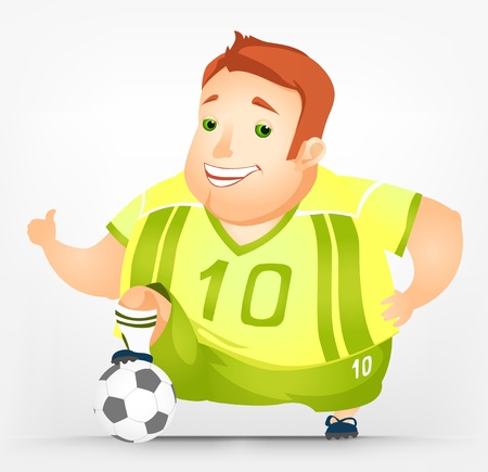 Cheerful Chubby Man Stock Vector - 17546370