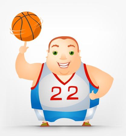 Cheerful Chubby Man Stock Vector - 17546388