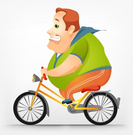 fahrradrennen: Fr�hlich Chubby Man