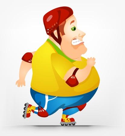 Cheerful Chubby Man Stock Vector - 17546379